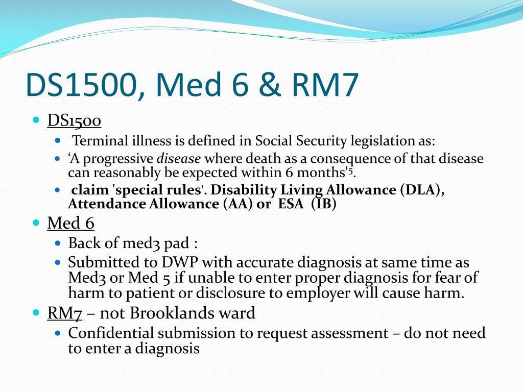 DS1500, Med 6 & RM7
