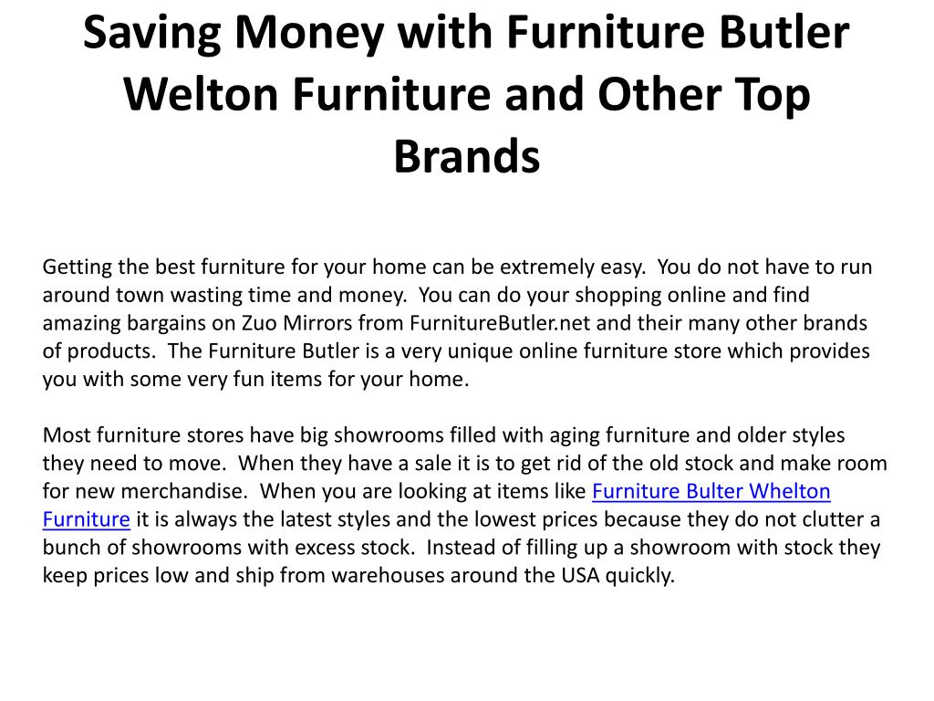 saving money with furniture butler welton furniture and other top brands