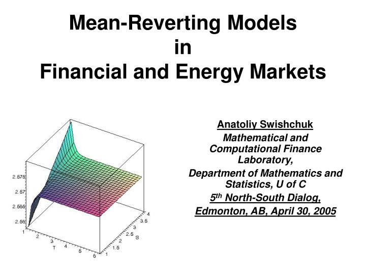 Mean reverting models in financial and energy markets