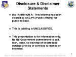 disclosure disclaimer statements