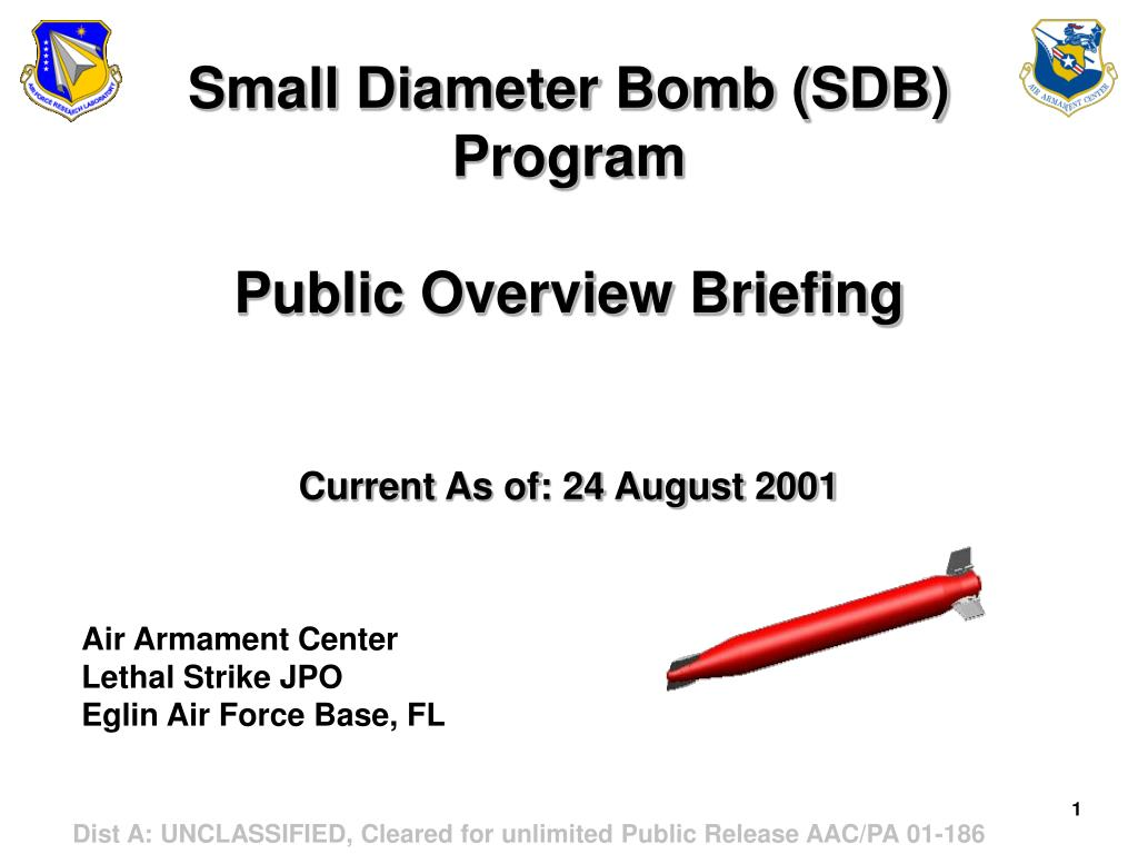 small diameter bomb sdb program public overview briefing current as of 24 august 2001
