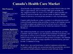 canada s health care market
