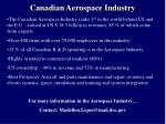 canadian aerospace industry