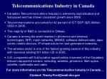telecommunications industry in canada