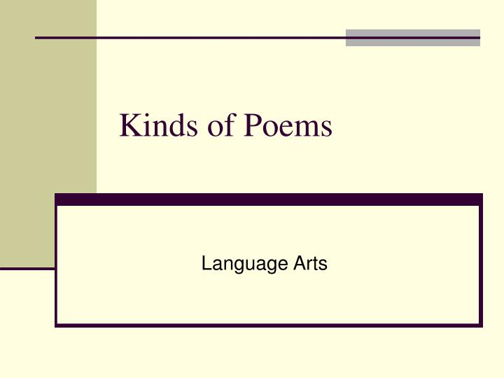 kinds of poems n.