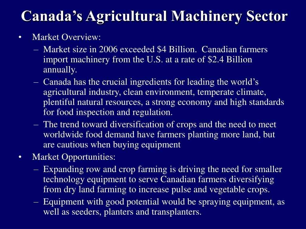 Canada's Agricultural Machinery Sector