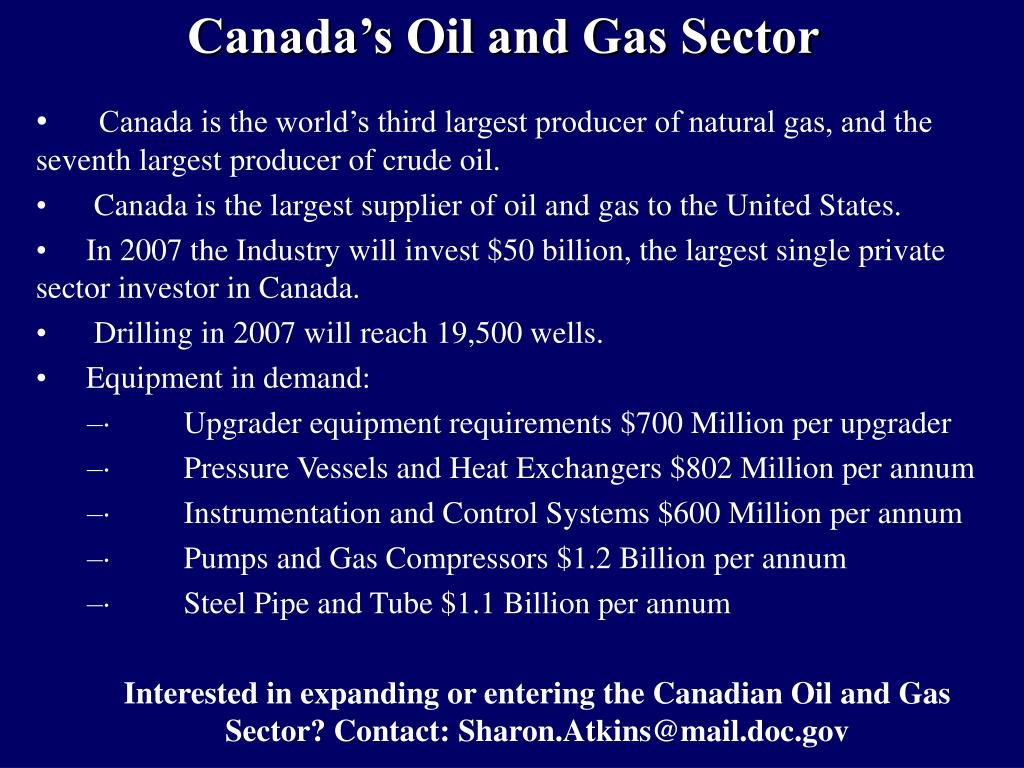 Canada's Oil and Gas Sector