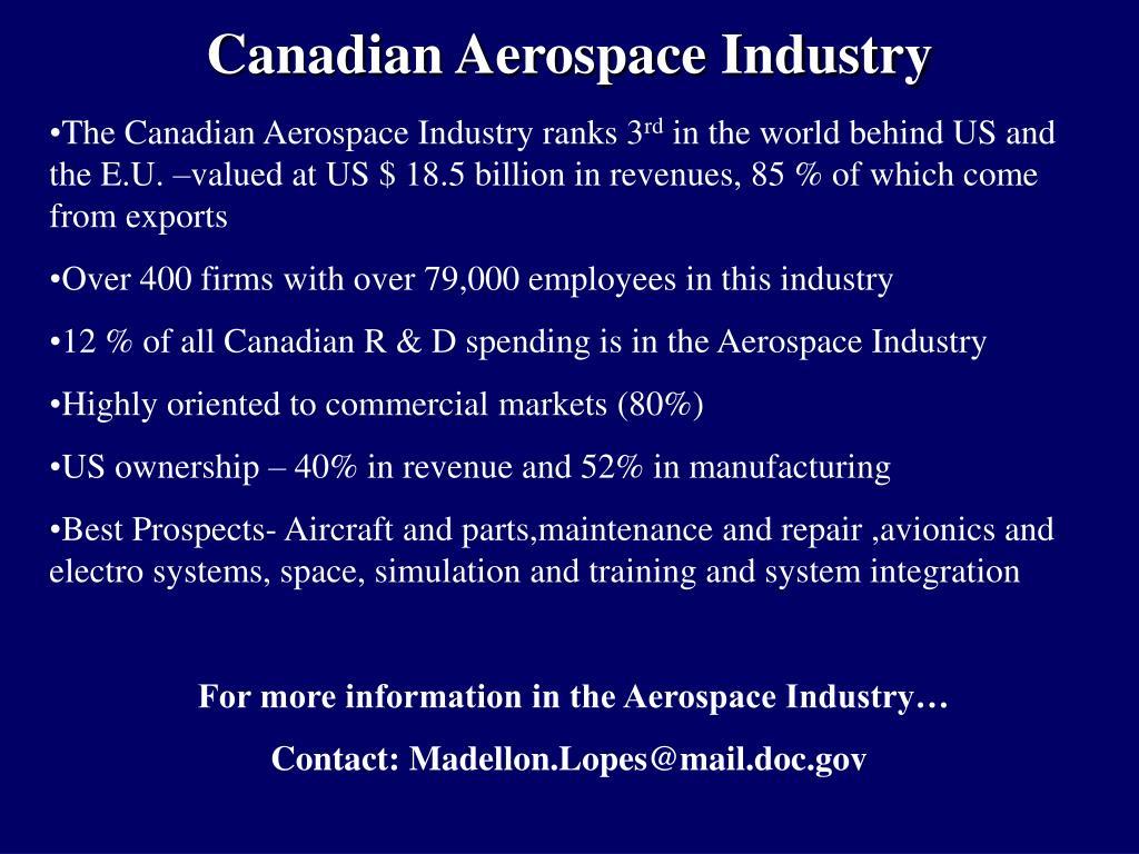Canadian Aerospace Industry