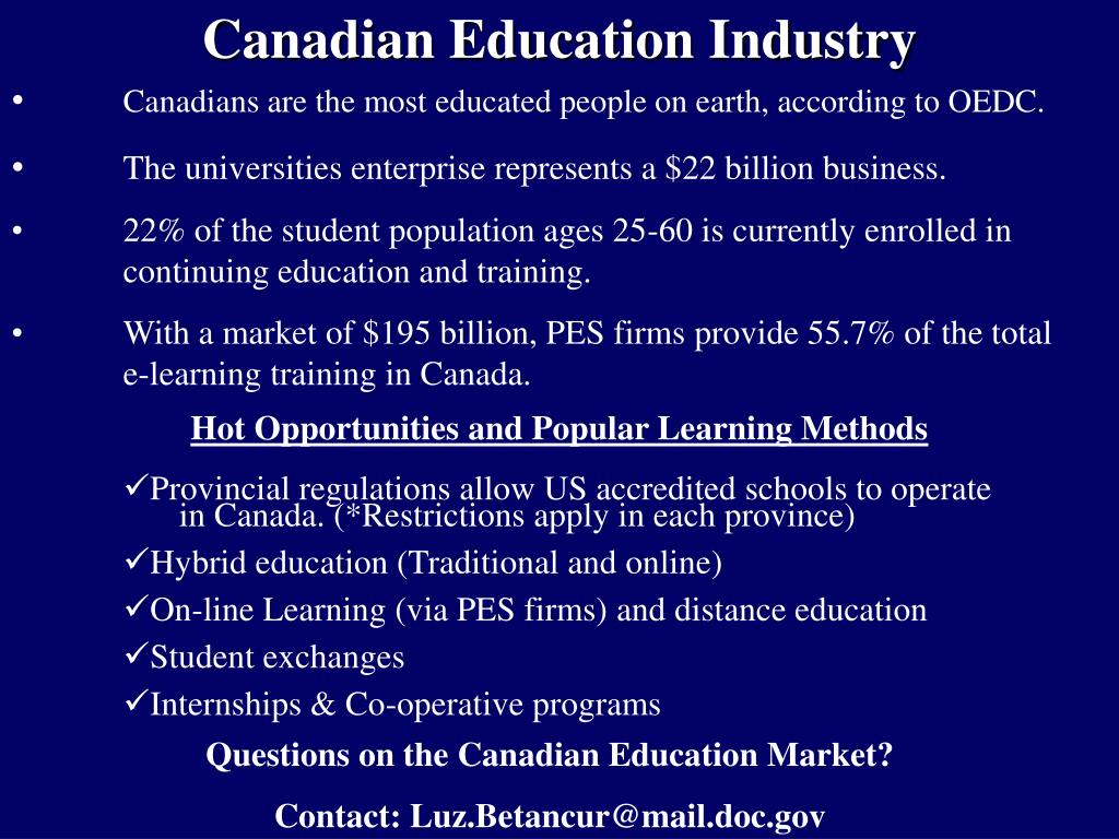 Canadian Education Industry