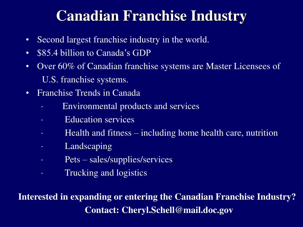 Canadian Franchise Industry