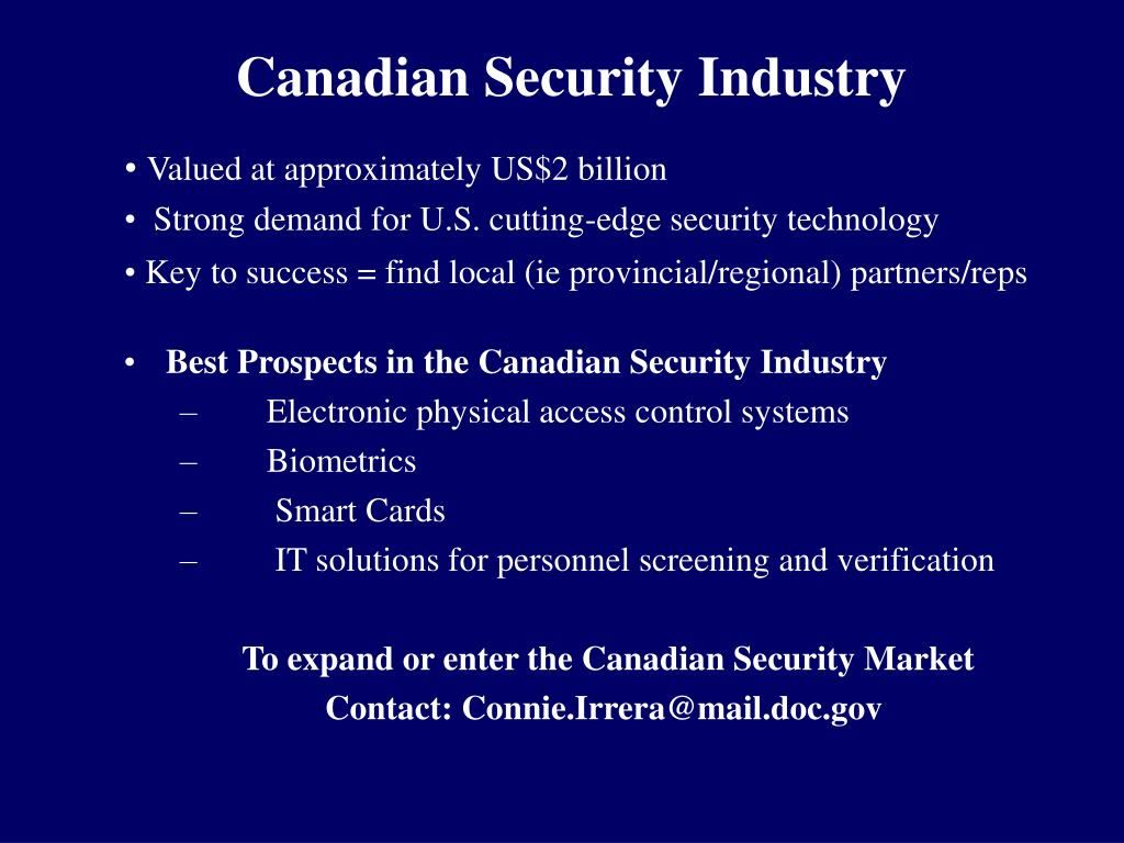 Canadian Security Industry
