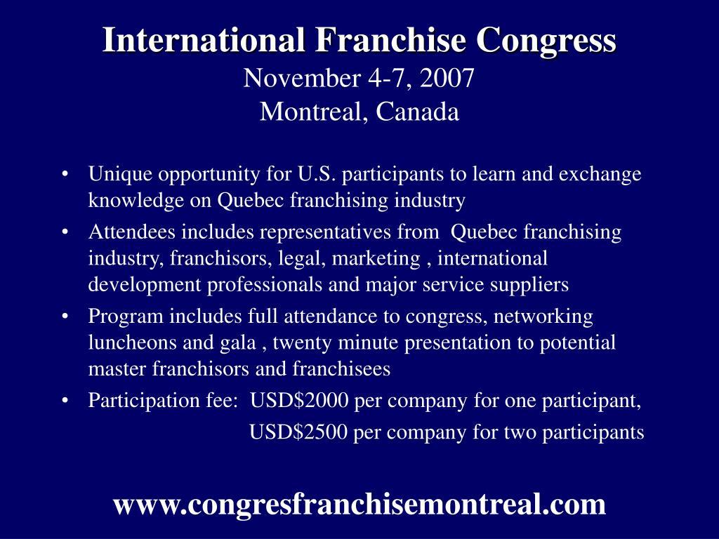 International Franchise Congress