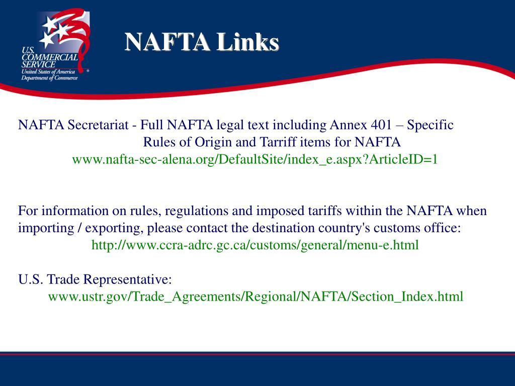 NAFTA Links