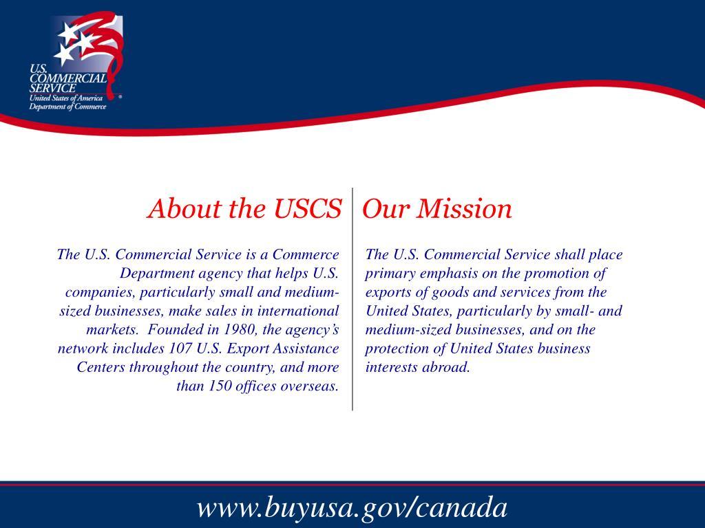 U.S.C.S. Information & Mission