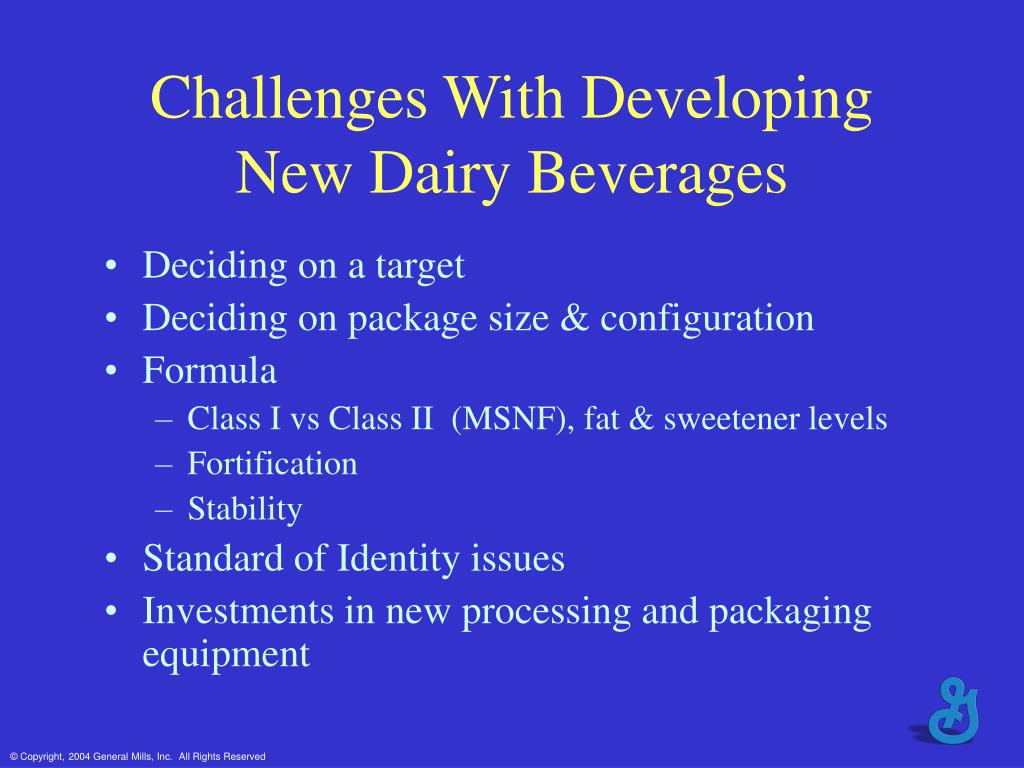 Challenges With Developing New Dairy Beverages