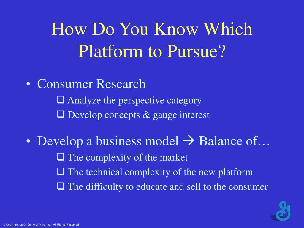 How Do You Know Which Platform to Pursue?