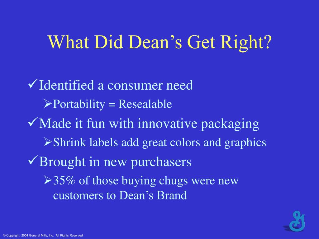 What Did Dean's Get Right?