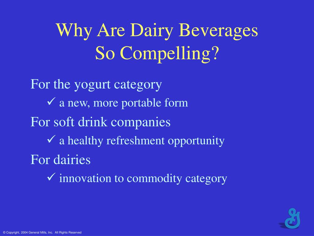Why Are Dairy Beverages