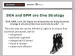soa and bpm are one strategy