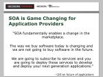 soa is game changing for application providers28
