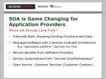 soa is game changing for application providers30