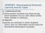 internet telecomputing enhanced learning activity types