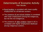 determinants of economic activity main results20