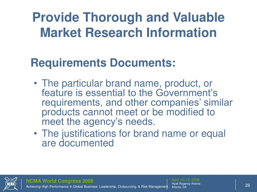 Provide Thorough and Valuable Market Research Information