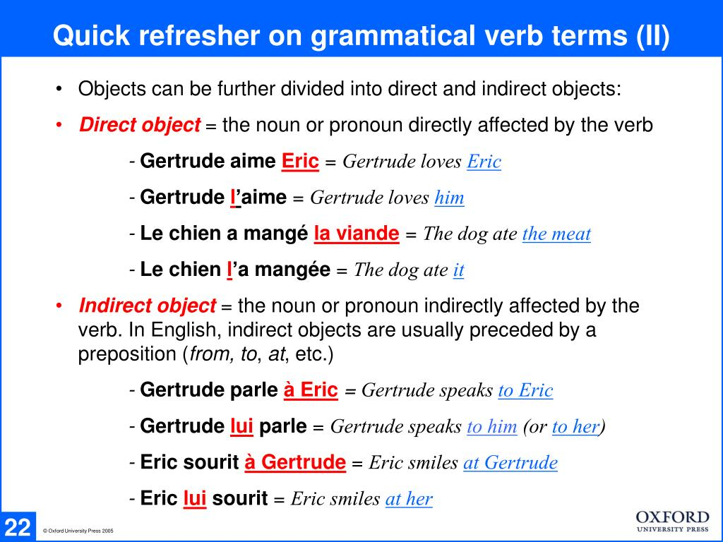Quick refresher on grammatical verb terms (II)