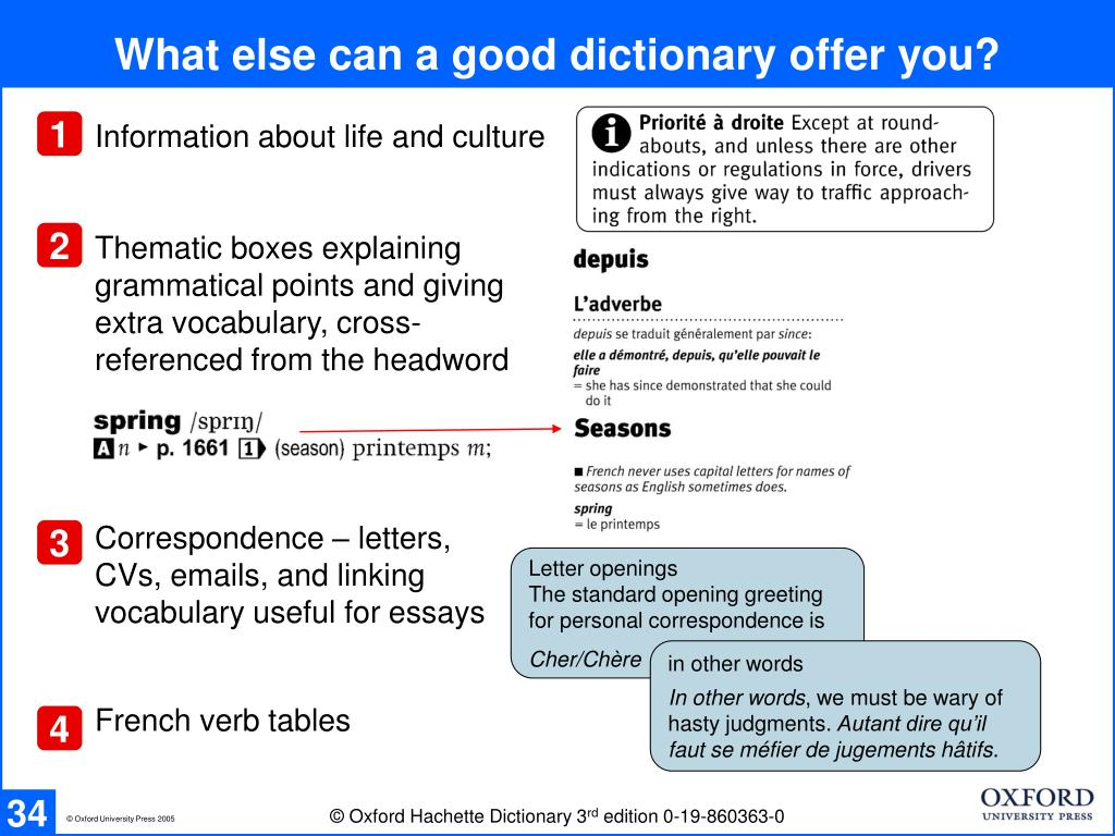What else can a good dictionary offer you?
