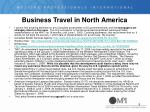 business travel in north america1