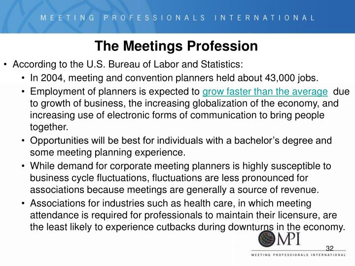 The Meetings Profession