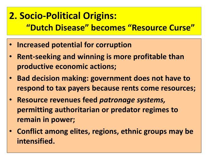 Natural Resource Curse Dutch Disease