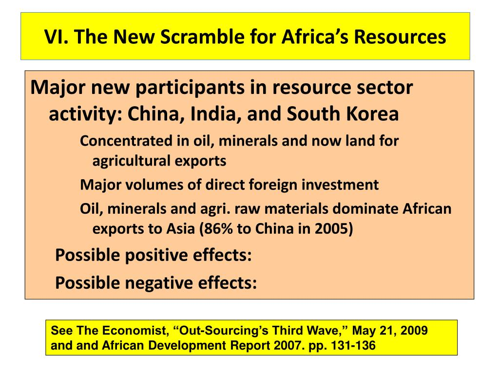 VI. The New Scramble for Africa's Resources