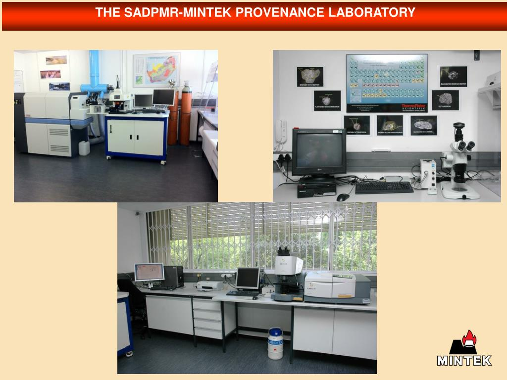 THE SADPMR-MINTEK PROVENANCE LABORATORY