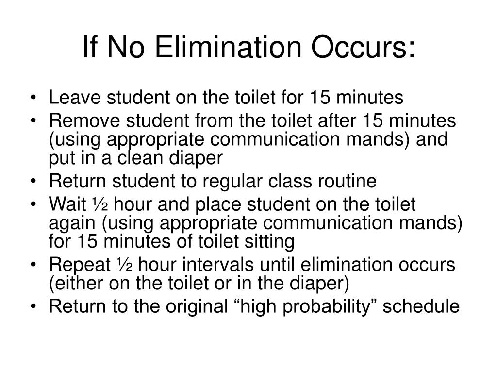 If No Elimination Occurs: