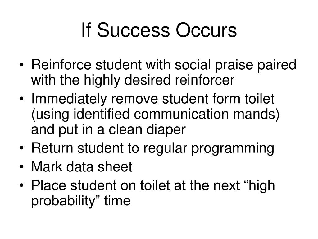 If Success Occurs