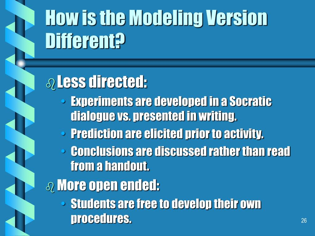 How is the Modeling Version Different?