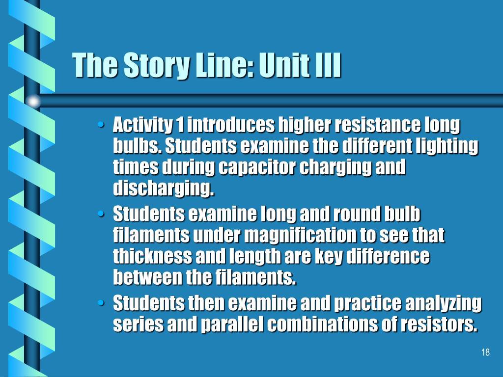 The Story Line: Unit III