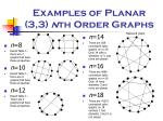 examples of planar 3 3 n th order graphs