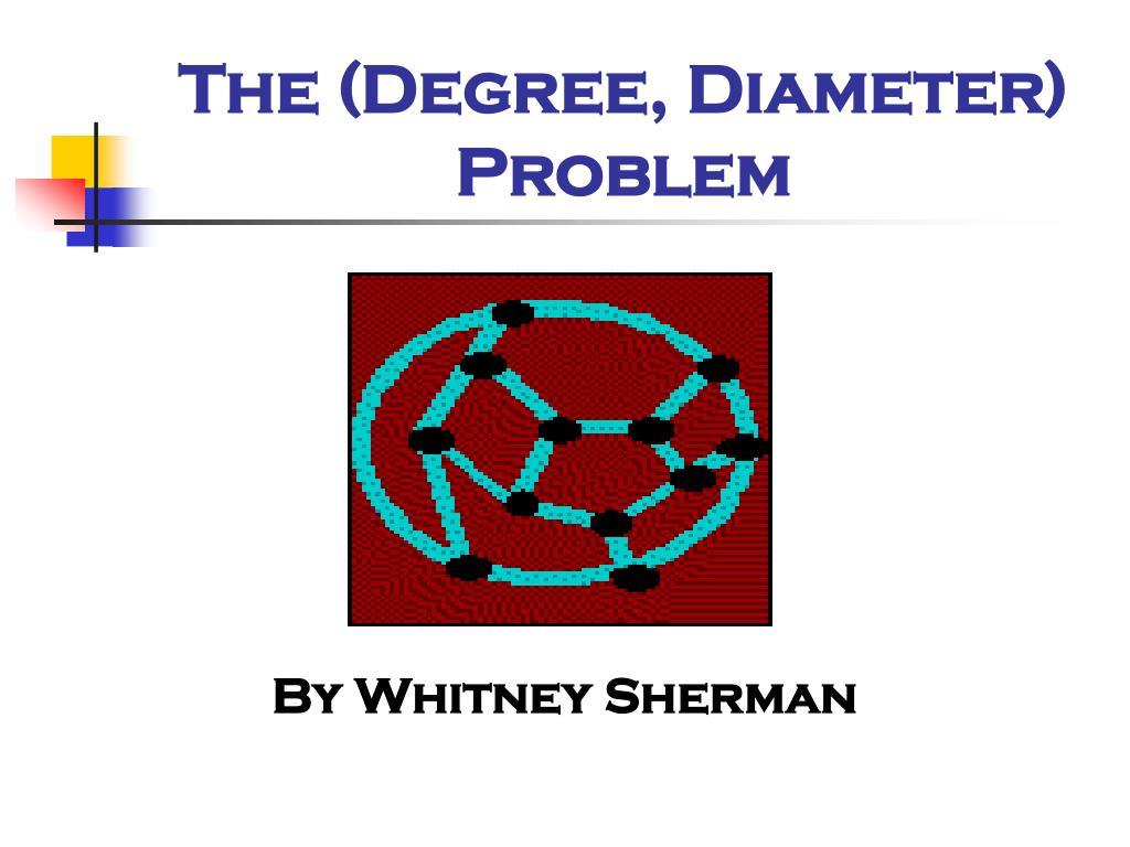the degree diameter problem
