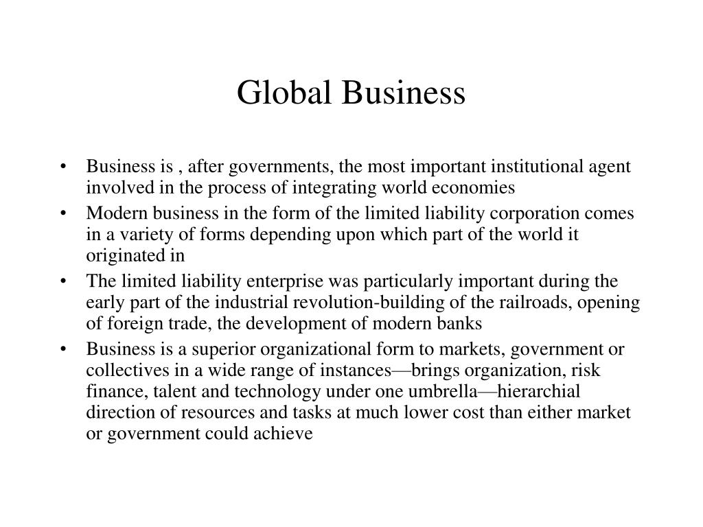 global business l.