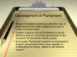 development of parliament