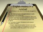 english history in a nutshell