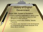history of english government