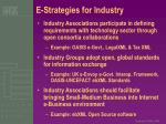 e strategies for industry