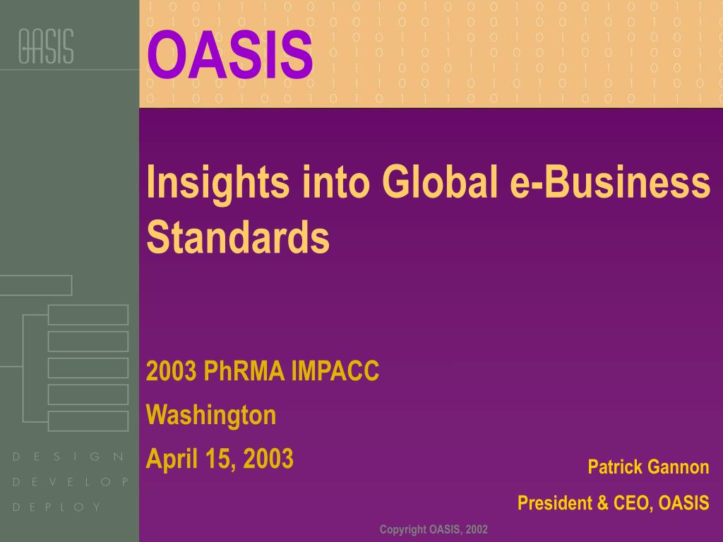 insights into global e business standards