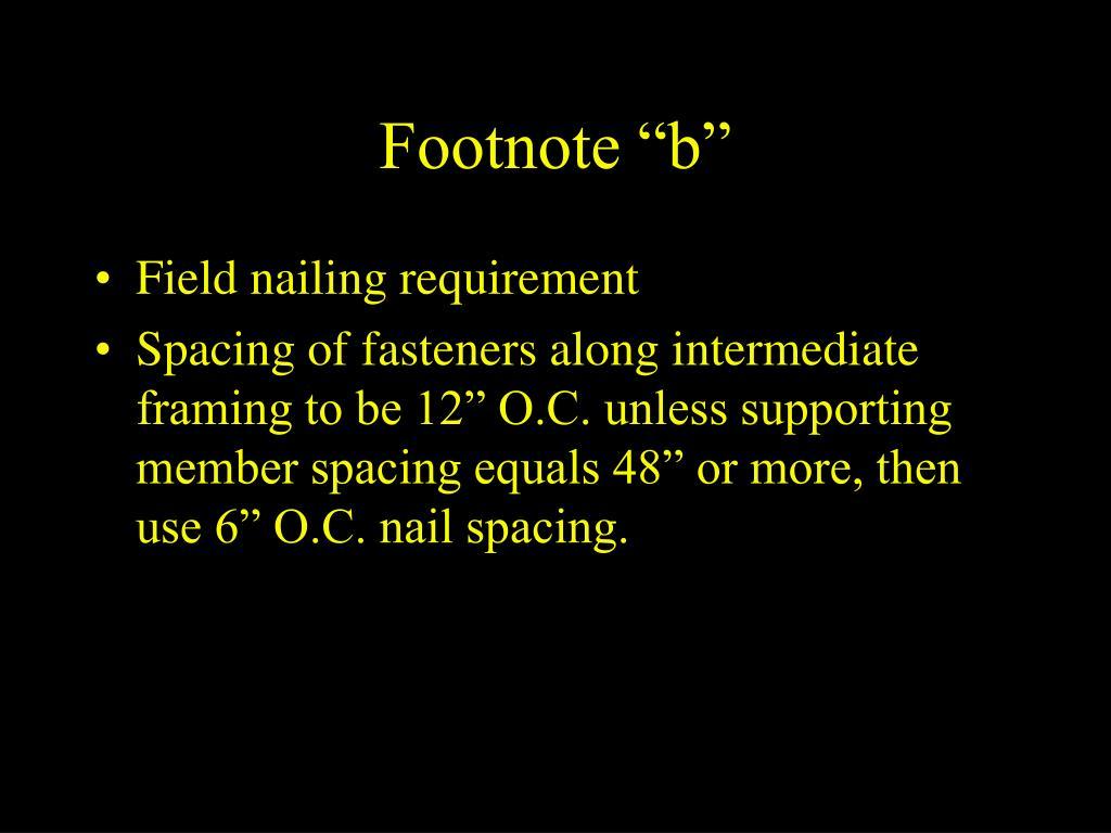 "Footnote ""b"""