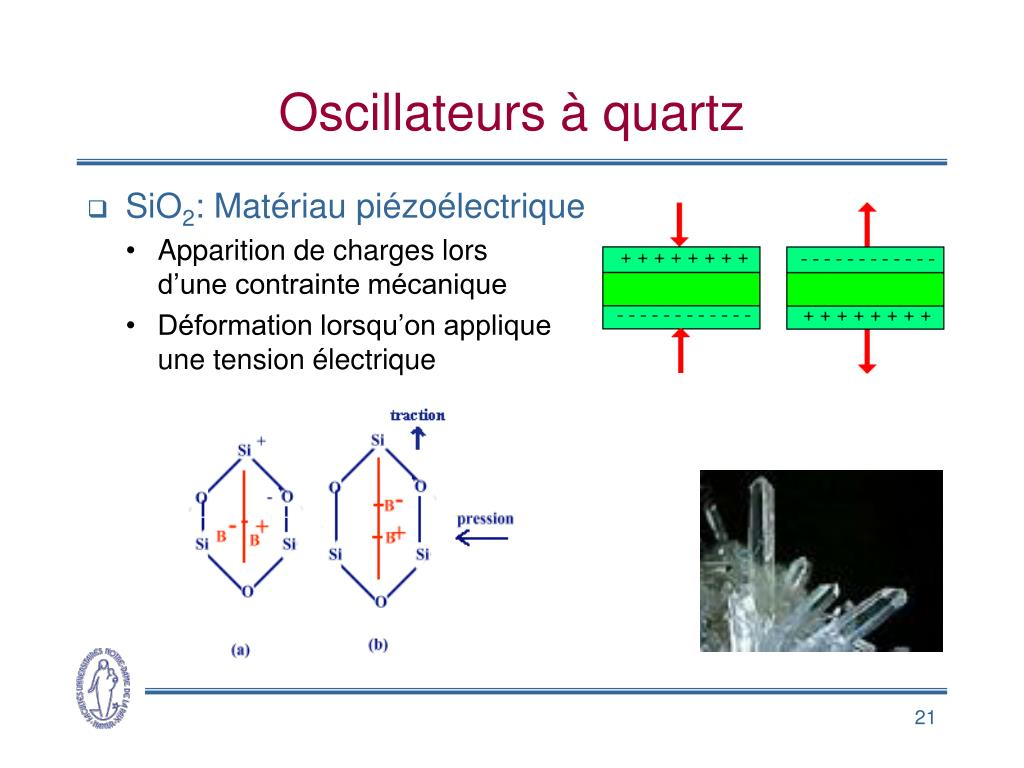 Oscillateurs à quartz