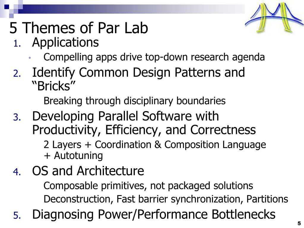 5 Themes of Par Lab